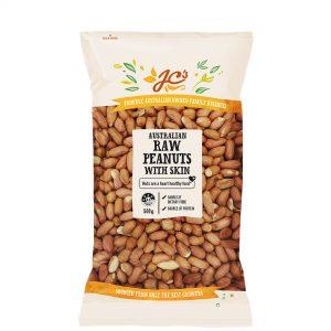 Raw Peanuts with Skin 500g
