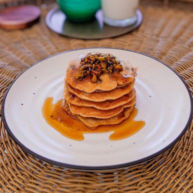 JC's Chocolate and Pistachio Pancake